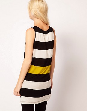 Image 2 ofMango Stripe Long Line Vest