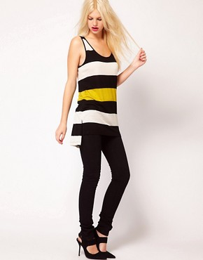 Image 4 ofMango Stripe Long Line Vest