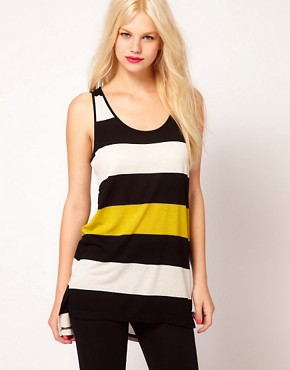 Image 1 ofMango Stripe Long Line Vest