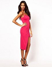 ASOS Cami Midi Split Bodycon Dress