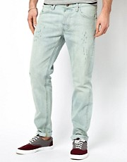 Lee 101 S Jeans Slim Fit Isko White Selvage