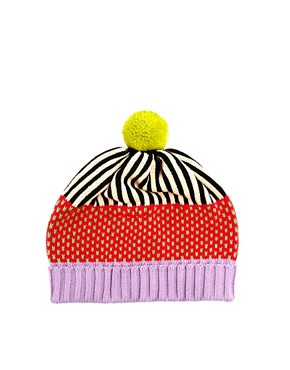 Image 4 ofAll Knitwear Strawberry Stripe Bobble Hat