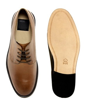 Image 2 of ASOS Derby Shoes With Leather Sole