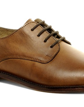 Image 3 of ASOS Derby Shoes With Leather Sole
