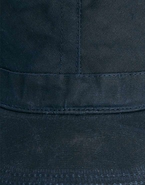 Image 3 ofASOS Peaked Cap In Waxed Canvas
