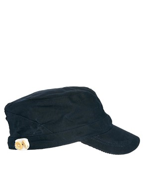 Image 4 ofASOS Peaked Cap In Waxed Canvas