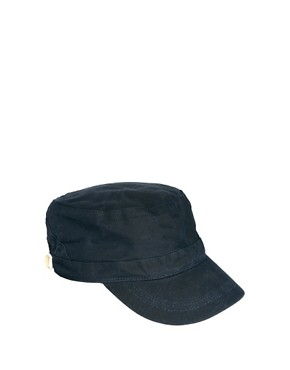 Image 1 ofASOS Peaked Cap In Waxed Canvas