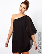 ASOS CURVE Drape One Shoulder Dress
