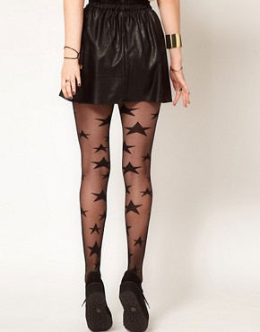 Image 2 ofHearts &amp; Bows Leather Look Skater Skirt