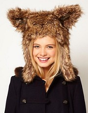 ASOS Faux Fur Bunny Ear Hat