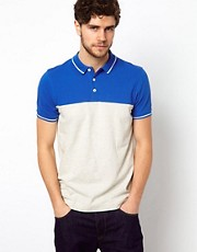 ASOS Polo With Cut And Sew