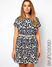 ASOS CURVE Exclusive Geo Print Dress