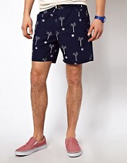 The Critical Slide Society Chino Shorts Palm Print