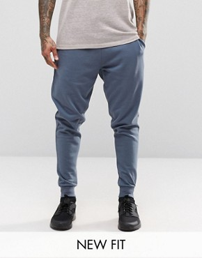ASOS Tapered Joggers In Blue