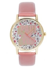 Paul&#39;s Boutique &#39;Paul Love&#39;s You&#39; with Floral Face Watch