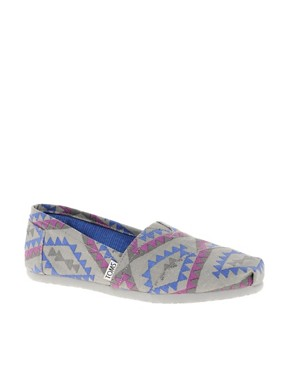 Image 1 ofTOMS Seasonal Classic Ash Indo Flat Shoes