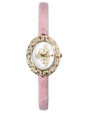 Vivienne Westwood Rococo Pink Leather Strap Watch