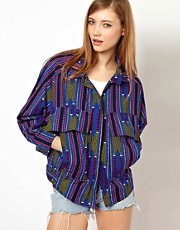 Les Prairies De Paris Subway Jacket in Africa Print