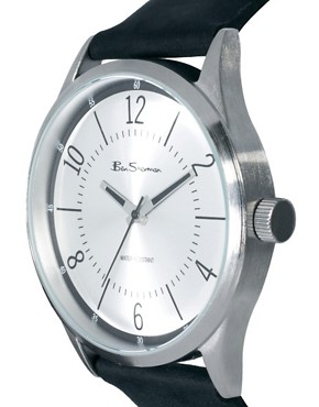 Image 3 ofBen Sherman Silver Dial Leather Strap Watch