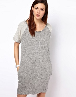Image 1 ofBZR Cotton Melange Jumper Dress