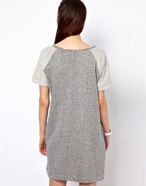 Image 2 ofBZR Cotton Melange Jumper Dress