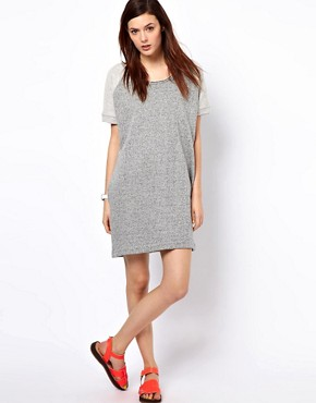 Image 4 ofBZR Cotton Melange Jumper Dress