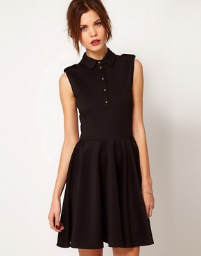 Image 1 ofWarehouse Military Skater Dress