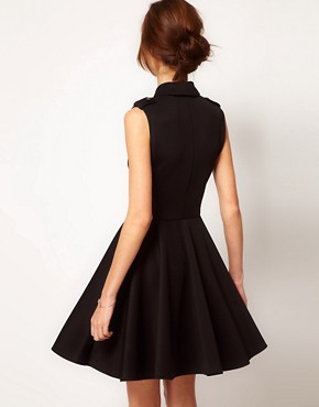 Image 2 ofWarehouse Military Skater Dress