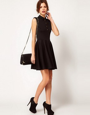 Image 4 ofWarehouse Military Skater Dress