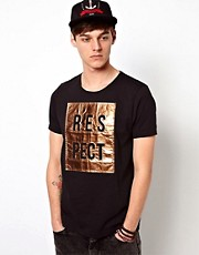 ASOS T-Shirt With Foil Respect Print