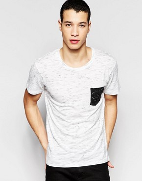 Selected Homme T-Shirt With Contrast Pocket
