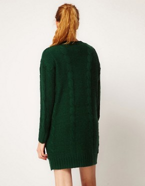 Image 2 ofVila Exclusive Cable Knit Grandad Cardi