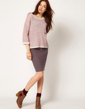 Image 1 ofPeople Tree Jersey Pencil Skirt