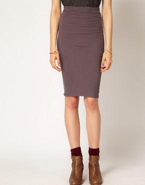 Image 4 ofPeople Tree Jersey Pencil Skirt
