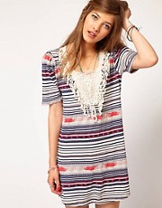 Maison Scotch Native Fringed Dress