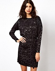 Selected Dinni Long Sleeved Dress with Beaded Shoulders &amp; Back