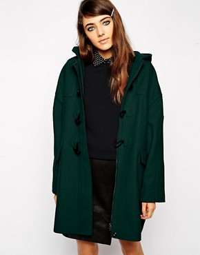 ASOS Duffle Coat In Cocoon Fit
