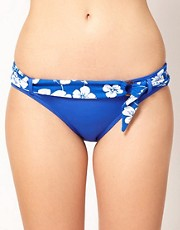 Sunseeker Hawaiian Floral Belted Hipster Bikini Pant