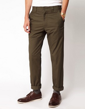 Image 1 ofBlack Chocoolate Chino With Zip Detail