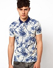 River Island Polo with All Over Floral Print