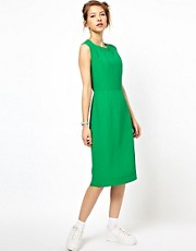 Peter Jensen Insert Collar Shell Dress in Silk
