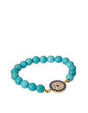 Ottoman Hands Evil Eye Beaded Bracelet