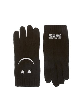 Image 1 of Moschino Cheap & Chic Smiley Gloves