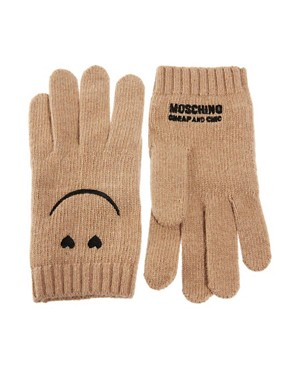 Image 1 ofMoschino Cheap &amp; Chic Smiley Gloves