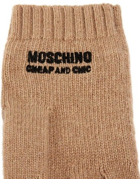Image 2 ofMoschino Cheap &amp; Chic Smiley Gloves