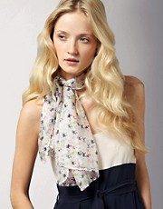 Sophie Hulme for ASOS Digital Trolley Print Silk Scarf