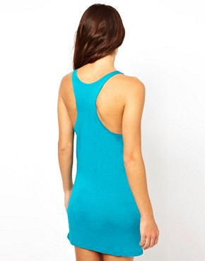 Image 2 ofASOS Jersey Knot Front Cut Out Beach Dress