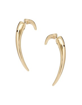 Image 1 ofASOS Curved Spike Earrings