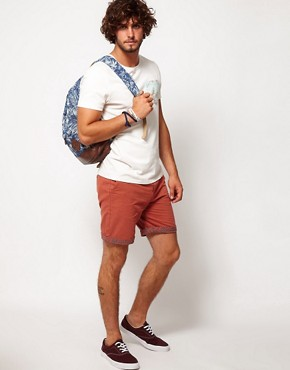Image 4 ofASOS Chino Shorts With Aztec Turn Up