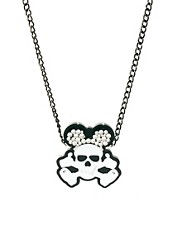 Funky Bling Short Skull Necklace